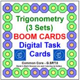 """TRIGONOMETRY: """"DIGITAL"""" BOOM CARDS (64 TASK CARDS) 3 SETS,"""