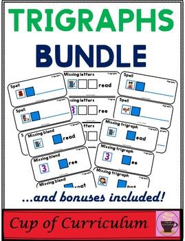 PHONICS TILES: TRIGRAPHS BUNDLE