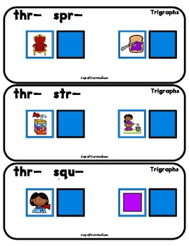 TRIGRAPHS Task Cards to Differentiate Sounds