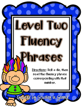 TROLLS Fluency Phrase Roll & Read 6 Levels {PRINT AND PLAY}