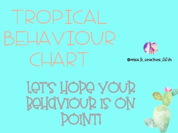 TROPICAL BEHAVIOUR CHART