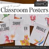 TROPICAL COAST Inspirational Classroom Posters
