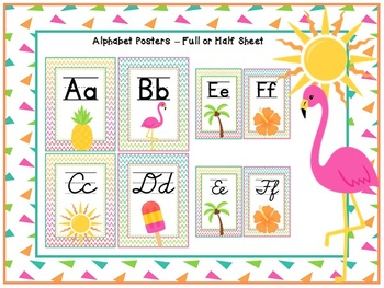 TROPICAL Classroom Decoration Pack