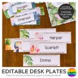 TROPICAL COAST Desk Plates