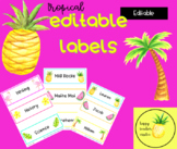 TROPICAL Editable Labels