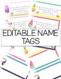 TROPICAL Editable Name Tags