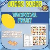 Tropical Fruit ESL Activities Bingo Cards