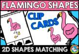 TROPICAL MATH ACTIVITIES (FLAMINGO SHAPES RECOGNITION CLIP CARDS) FLAMINGO MATH