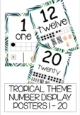 TROPICAL NUMBER POSTERS 1 - 20