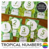 TROPICAL COAST Number Posters 0-30