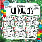 TROPICAL THEME-Tall Towers-  Number Recognition- Simple Ad