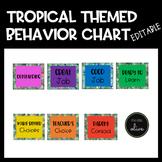 TROPICAL Themed Behavior Chart-Editable