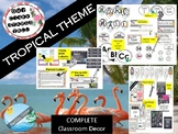 TROPICAL WATERCOLOR classroom themes decor bundles