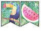 TROPICAL classroom decor editable pennant banner