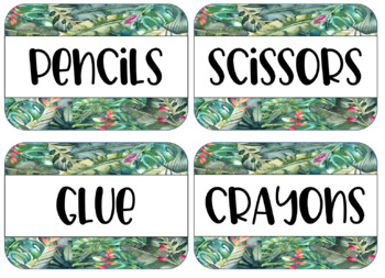 TROPICAL themed Editable Labels and Nameplates