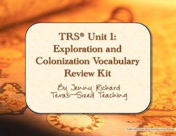 TRS®/CSCOPE® U.S. Unit 1: Exploration and Colonization Vocabulary Review Kit
