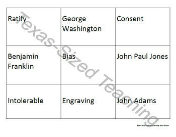 TRS®/CSCOPE® U.S. Unit 3: American Revolution Vocabulary Review Kit