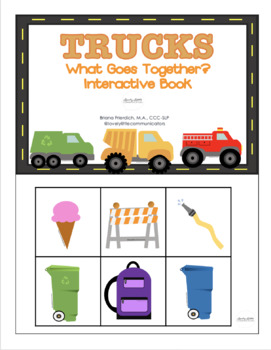 Truck Themed Interactive Books