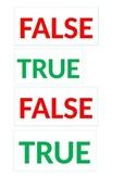 TRUE AND FALSE CARDS