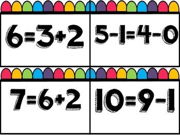 TRUE/ FALSE EQUATIONS THAT ARE EQUAL 1.OA.D.7