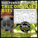 Nocturnal Animals: TRUE OR FALSE? BATS