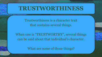 TRUSTWORTHINESS Character Ed Guidance Lesson w 5 video links & role plays PBIS
