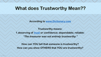 READY-TO-USE TRUSTWORTHINESS Character Ed Lesson w video link PBIS Auto B Good