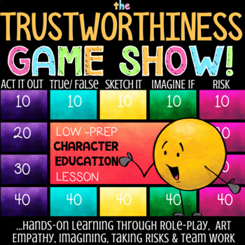 TRUSTWORTHINESS: Character Education School Counseling Lesson on Honesty
