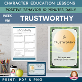 TRUSTWORTHY Positive Behavior | Daily Character Education