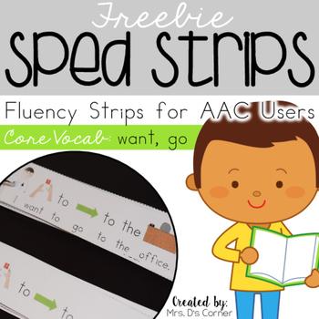 TRY IT FREE - SPED Strips Set 1 { Fluency Strips for AAC }