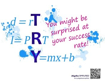 TRY Math Poster - Success Version