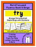 TRY - Word Fluency Book & Emotion Bingo - Sight Word Focus