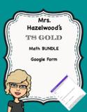 TS GOLD Math Abbreviated Bundle Google Forms