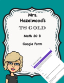 TS GOLD Math Objective 20 B Google Form