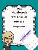TS GOLD Math Objective 20 B Google Form