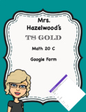 TS GOLD Math Objective 20 C Google Form