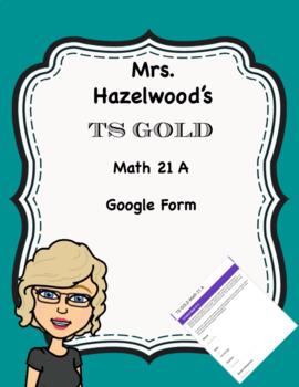 TS GOLD Math Objective 21 A Google Form