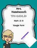 TS GOLD Math Objective 21 B Google Form