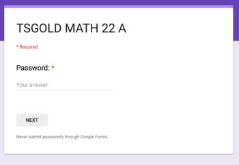 TS GOLD Math Objective 22 A Google Form