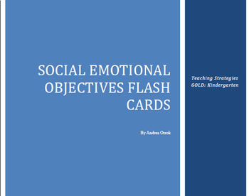 TS Gold Flash Cards for Social Emotional, LA, and Math
