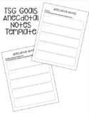 TSG Gold Anecdotal Notes Template with Objectives