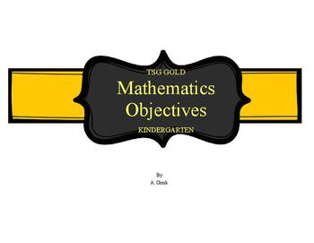 TSG Gold Assessment Math Objective Cards