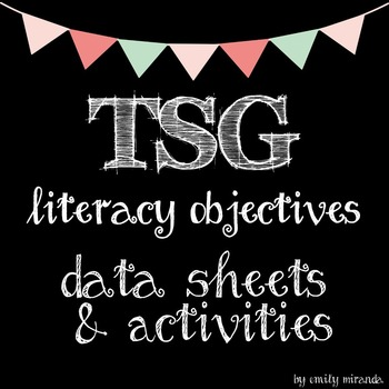 TSG Teaching Strategies Gold Literacy Objective Data and Activities Pack tsg