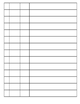 TSG Observation Recording Sheet for Multiple Students: Literacy