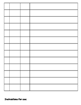 TSG Observation Recording Sheet for Multiple Students: Math