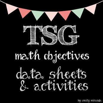 Tsg Teaching Strategies Gold Math Objectives Data Sheets And