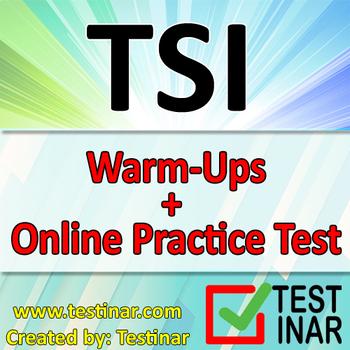 TSI Math Warmups + Online TSI Math Practice Questions