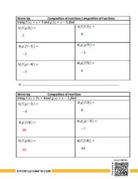 TSI Mathematics Prep: Composition of Functions