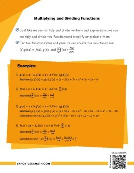 TSI Mathematics Prep: Multiplying and Dividing Functions