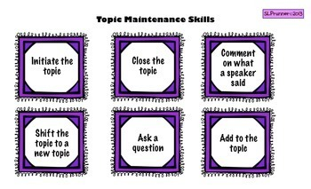 Pragmatic Social Language Skills (Topic Text 4 activities)